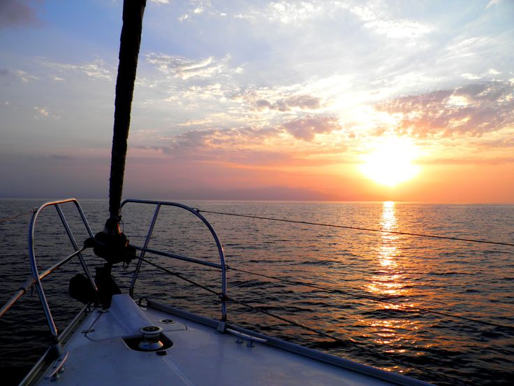 Beautiful #sunset!  Photo taken on #Blu boat on the way to #Heraklion port! Travel with our #sailing boat and live the dream! sailingtheblu@gmail.com