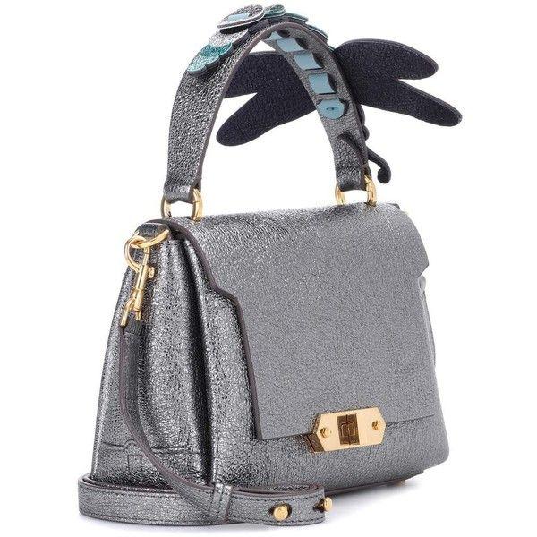 Anya Hindmarch Bathurst Mini Leather Shoulder Bag ($825) ❤ liked on Polyvore featuring bags, handbags, shoulder bags, real leather purses, genuine leather purse, miniature purse, shoulder handbags and anya hindmarch handbags