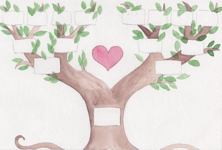 Stammbaum zum Ausdrucken - Lila Erdbeere