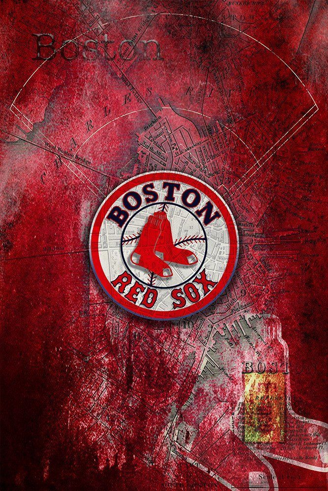 Boston Red Sox Poster, Red Sox Artwork Boston Gift, Red Sox Layered Ma                      – McQDesign