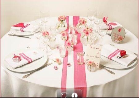 Des rubans en centre de table