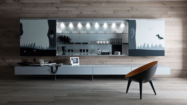 wall unit     This functional living room furniture by Valcucine is nothing short of impressive. A perfect marriage between form and function, these living room pieces are also designed with safety and...