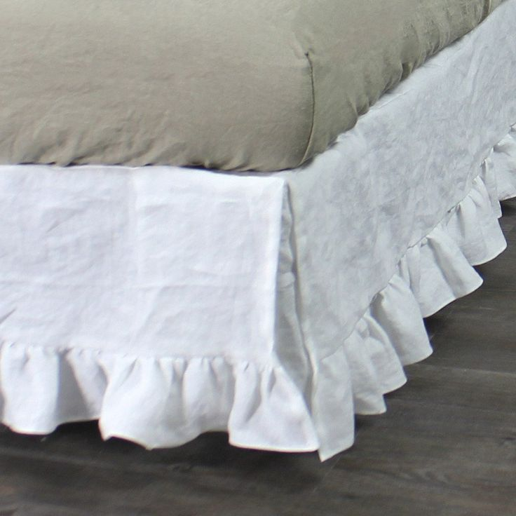 While some people prefer a tailored room, there are those who love something fancy and charming just like the washed pure linen ruffles bed skirt. Order here!