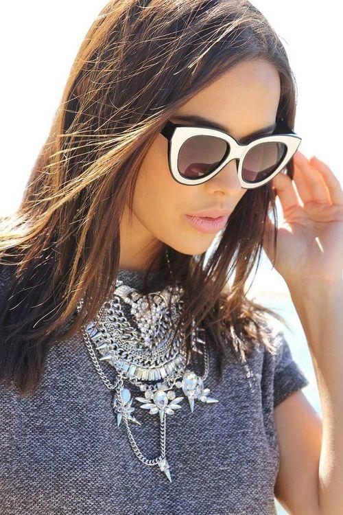 9ef28572a34 Metallic Trim Sunglasses - Accessories by Sabo Skirt
