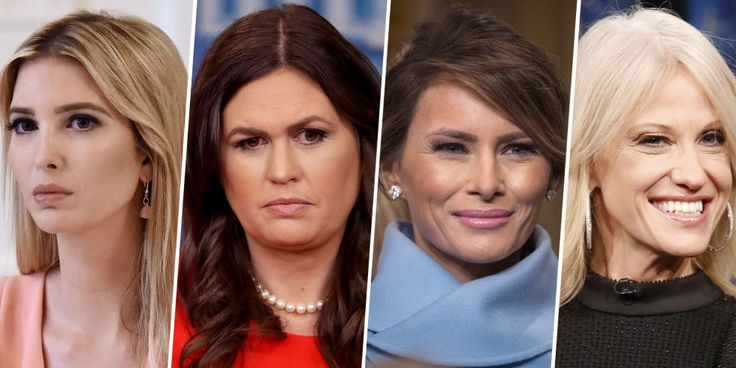 The kind of women trump allows in his presence. Are you an Ivanka, a Sarah, a Melania, a Kellyanne? Or maybe you're the kind of woman the President is terrified of. Sarah was plastered with more makeup and then humiliated on tv by Scaramouch telling her to keep that makeup person.