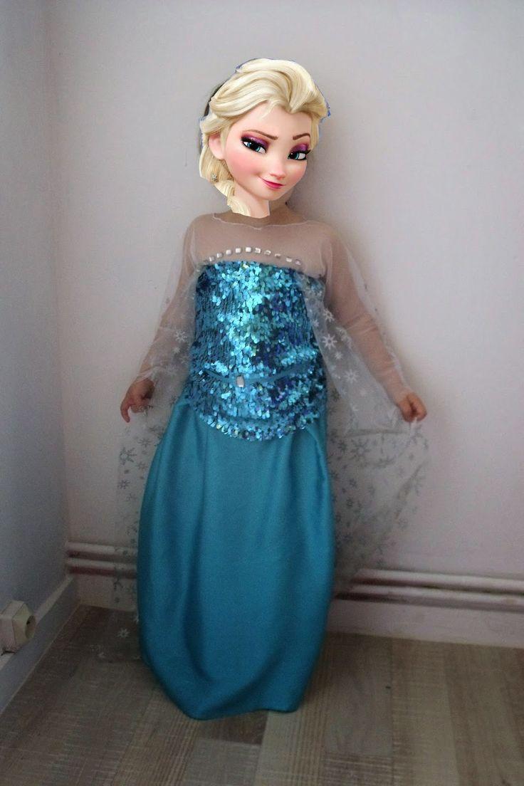 Robe reine des neiges elsa 10 ans