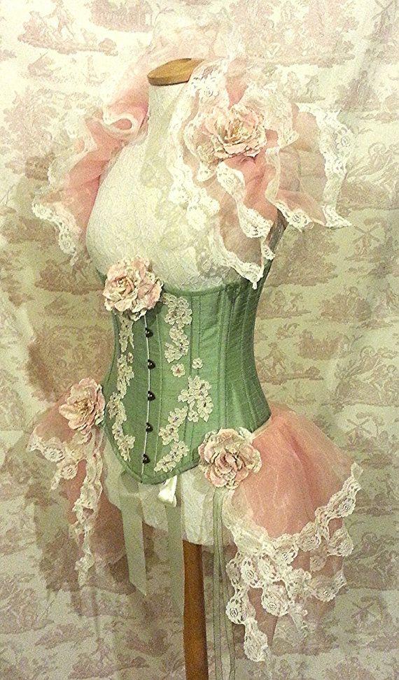 24 Waist Burlesque Steampunk  Underbust Corset by OpheliasFolly, $149.00