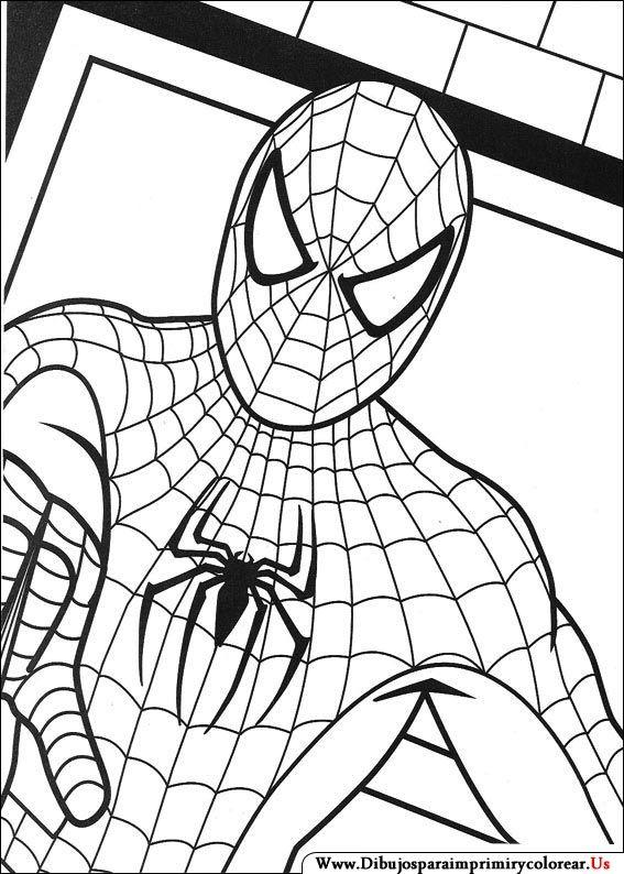 Dibujos De Spiderman Para Imprimir Y Colorear Hombre Arana Para Pintar Spiderman Dibujo Para Colorear Cara De Spiderman