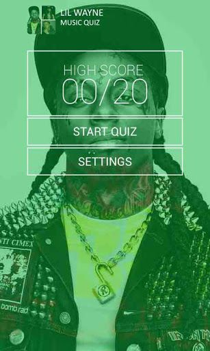 You think you can name all Lil Wayne music?<br>How many Lil Wayne songs can you guess? PROVE IT! Guess the song name and become a<br>true Lil Wayne Fan. Take the challenge and try your hand at Lil Wayne Music  Quiz. You will hear fragments of Lil Wayne most<br>popular music hits<p><br>Songs Included:<p><br>- Make It Rain<br>- Im Me<br>- Touch It Or Not<br>- Money On My Mind<br>- 3 Peat<br>- Mr. Carter<br>- A Milli<br>- Got Money<br>- Mrs. Officer<br>- Let The Beat Build<br>- Lollipop<br…