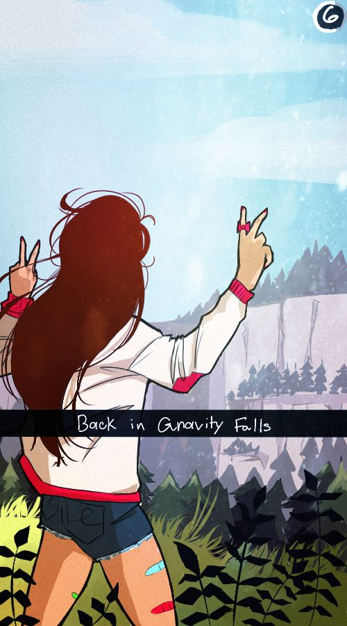 mabels snapchat back in gravity falls by missmort-
