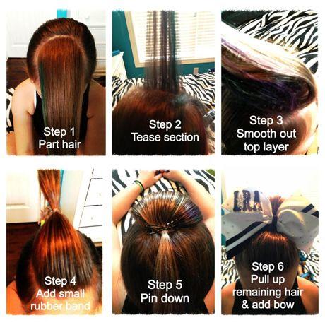ugh, have to do cheer hair all star cheerleaders hair - Google Search