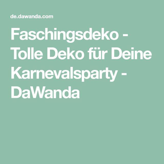 Faschingsdeko - Tolle Deko für Deine Karnevalsparty - DaWanda