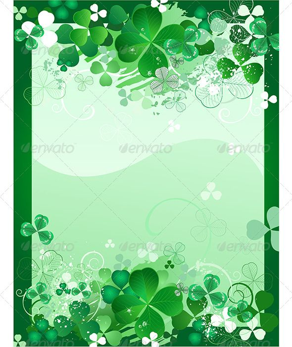 Boring Company Stock >> Shamrock Writing Paper   GraphicRiver Clover Background 7968582   St Patrick's Day Stationery ...