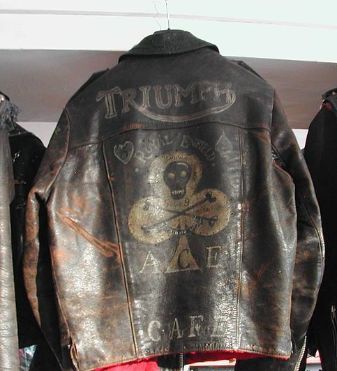 Incredible Vintage Triumph Leather Jacket easily worth $2K