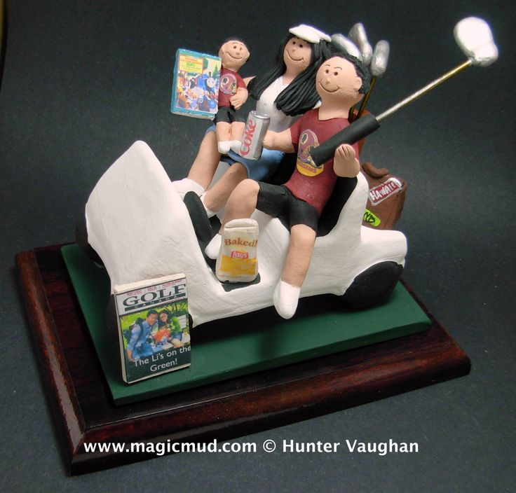 Golfing Family Cake Topper http://www.magicmud.com   1 800 231 9814  magicmud@magicmud.com   $235  https://twitter.com/caketoppers         https://www.facebook.com/PersonalizedWeddingCakeToppers   #golfer#golfing#golfersWedding#golf#wedding #cake #toppers #custom #personalized #Groom #bride #anniversary #birthday#weddingcaketoppers#cake toppers#figurine#gift#wedding cake toppers