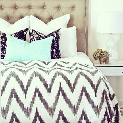 black, white, mint and chevron. What else could a girl ask for?
