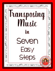 Transposing music in SEVEN easy steps!  Free download!  CLICK through to download or repin for later!