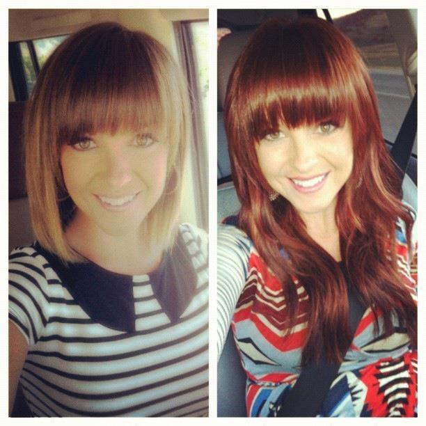 Maybe I'll just go straight auburn??   auburn hair color & bangs