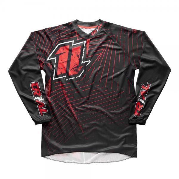 Jitsie maglia trial Line nero/rosso in jersey