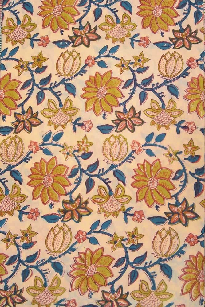 Premium Cotton Pattern Colours Print Fabric Dress Material Printed Upholstery