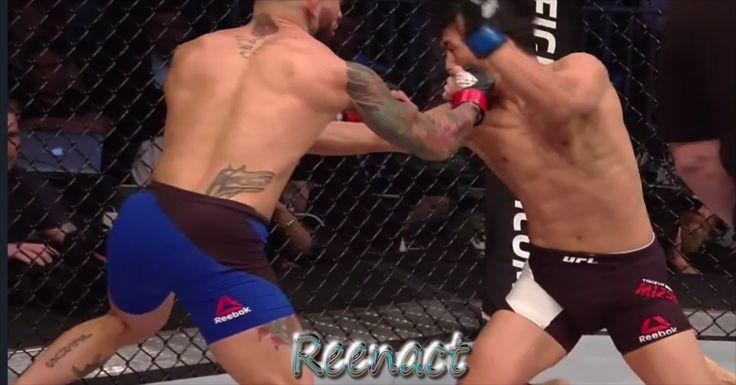 Cody Garbrandt KNOCKOUT Takeya Mizugaki UFC 202 Prelims Reenact Highligh...