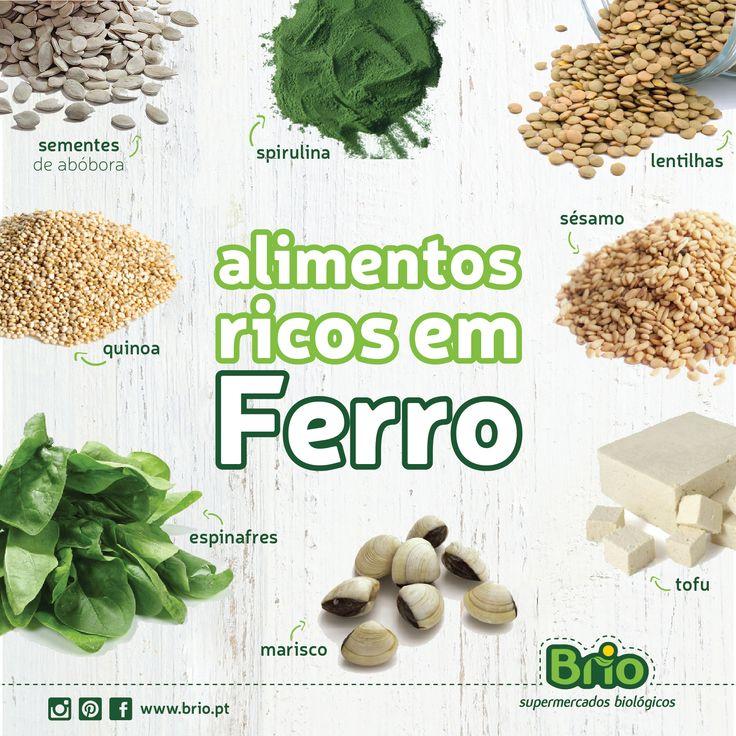 Brio Supermercados Biológicos - Alimentos ricos em Ferro