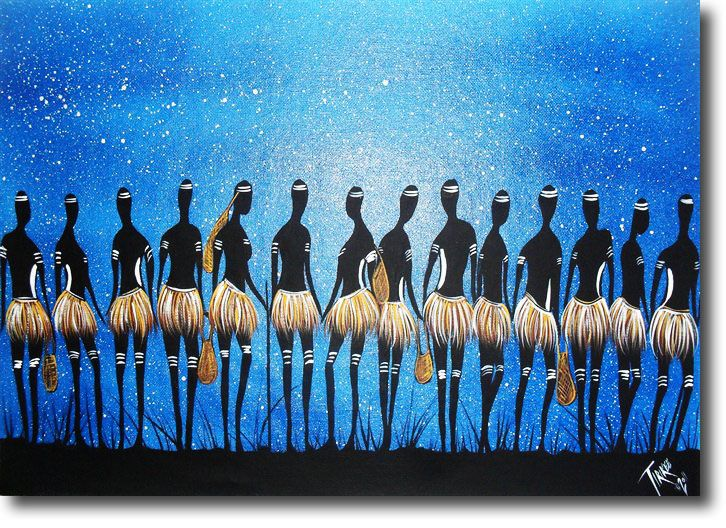 Women's Business by Tirikee - Acrylic Painting by Aleshia Lonsdale Australian Artist - Australian Indigenous Art for Sale Online