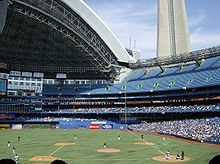 Baseball stadium in Toronto where we spent the funniest few hours - ever!  Ice.  Cold.  Beer!