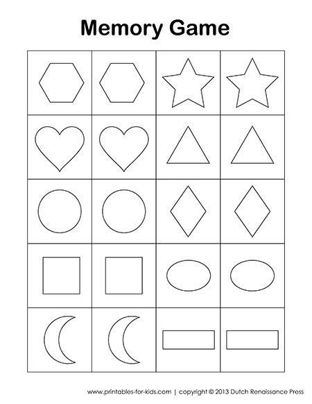 This is a free printable memory