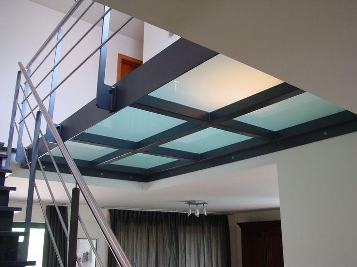 Beloopbaar glas badkamer plafond