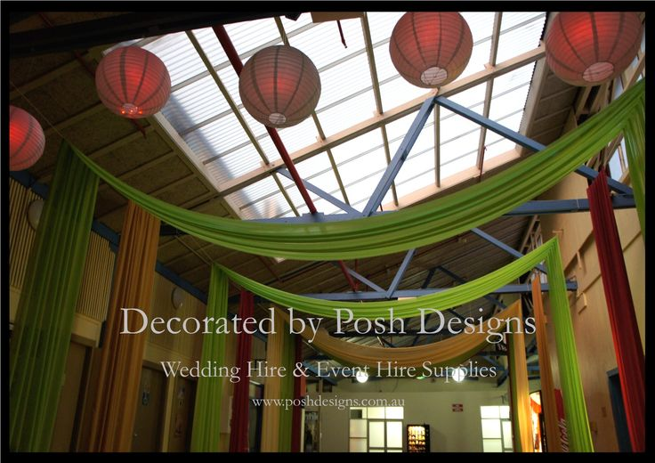 Wall draping, hanging lanterns - #wedding and #event #theming available at #poshdesignsweddings - #sydneyweddings #countryweddings #southcoastweddings #wollongongweddings All stock owned by Posh Designs Wedding & Event Supplies - lisa@poshdesigns.com.au,  www.poshdesigns.com.au or www.facebook.com/poshdesigns.com.au #Wedding #reception #decorations #Outdoor #ceremony decorations #Corporate #event decoration