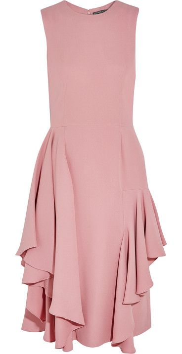 On SALE at 50% OFF! ruffled silk-crepe dress by Alexander McQueen. Fitted at the bust and waist, slightly loose at the hip . Mid -weight, slightly stretchy fabric . Model is 177cm/ 5'1...
