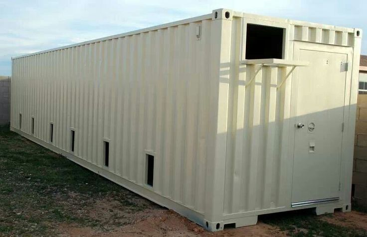 Kennels out of shipping container