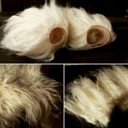 Трессы из шерсти для причесок