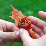 Rosen aus Ahornblätter