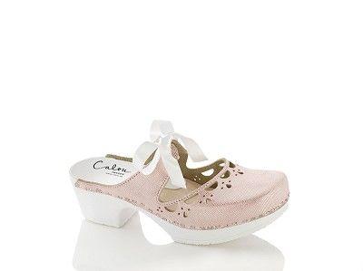 Calou Puukengät Knyta Pink leather