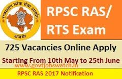RPSC RAS 2017 Candidates can now get details like as RAS 2017 Application Form, RPSC RAS/RTS 2016 Notification,RAS Exam Syllabus, Admit Card, Results 2017