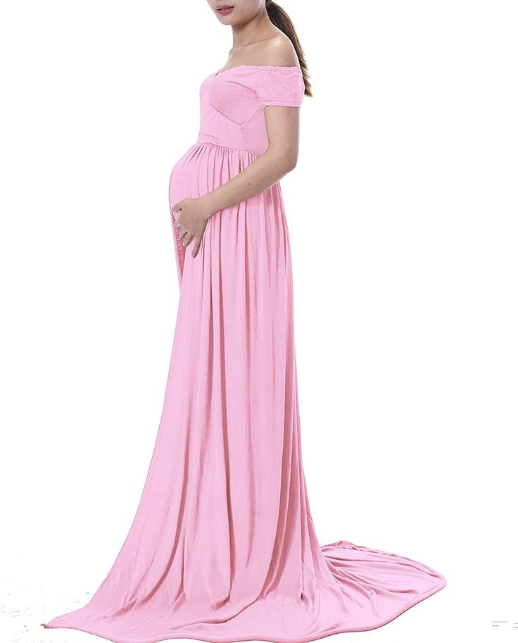 Mom to Be Baby Bump Pregnancy Portrait Dress / Maternity Photo Prop Gown Short Sleeve Baby Shower Gift