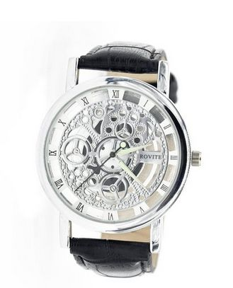 17 best ideas about cheap mens watches nice mens men s hollow engraving black coloured pu leather strap designed steampunk cheap men s watches deals for uk