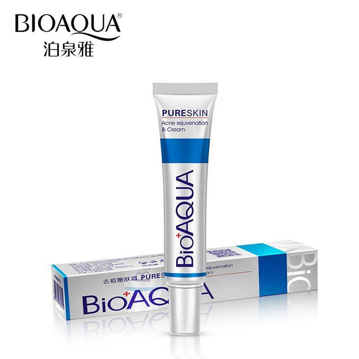 BIOAQUA Marca Cara Cuidado de La Piel Crema Anti Acné Eliminación de Cicatrices de Acné El Tratamiento Del Acné Reducir Los Poros de Gel Que Blanquea la Crema Hidratante 30g
