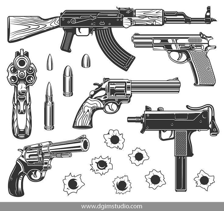 Gangster bundle bullet tattoo gangster tattoos guns