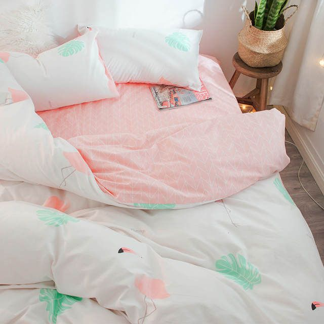 Online Shop Cotton Bedding Set Cute Bedding Set Pillowcase Bed Sheet Fashionable Bedding Twi Cheap Bedding Sets Luxury Bedding Master Bedroom Bed Linens Luxury
