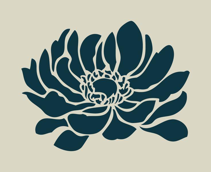 Pochoir en vinyle adhésif. Anémone. Fleur (ref 98) : Décoration d'intérieur par larabesque
