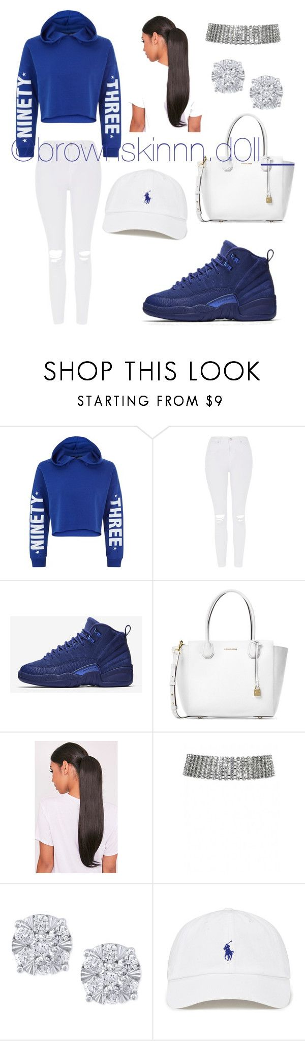 """Untitled #67"" by xo-destineeee ❤ liked on Polyvore featuring New Look, Topshop, NIKE, Michael Kors and Effy Jewelry"