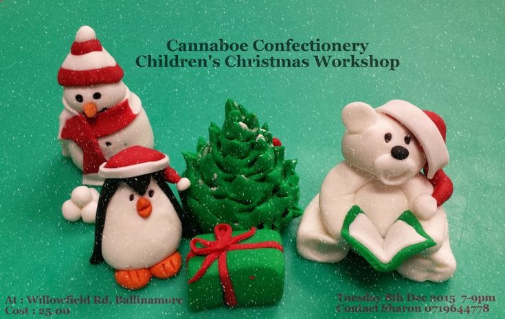 Book your child in for our Children's Christmas workshop at Cannaboe Confectionery. Tuesday 8th December from 7-9pm.  Cost €25. Contact Sharon @ 0719644778 or email at cannaboe@gmail.com  Places limited so please book early.