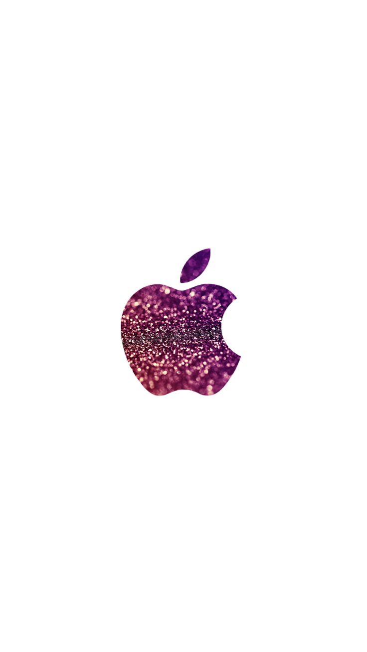 purple glitter apple logo iPhone 6 wallpaper | click for more free iPhone backgrounds
