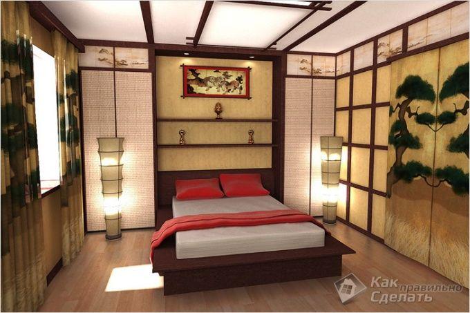 Interiøret i den japanske stil