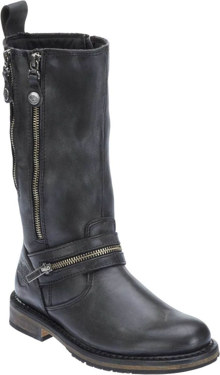 Free shipping - Harley-Davidson Women's Sackett 10.75-In Leather Motorcycle Boots D83949 D83900 - Womens/Footwear/Boots - Essentials/Footwear/Womens Footwear