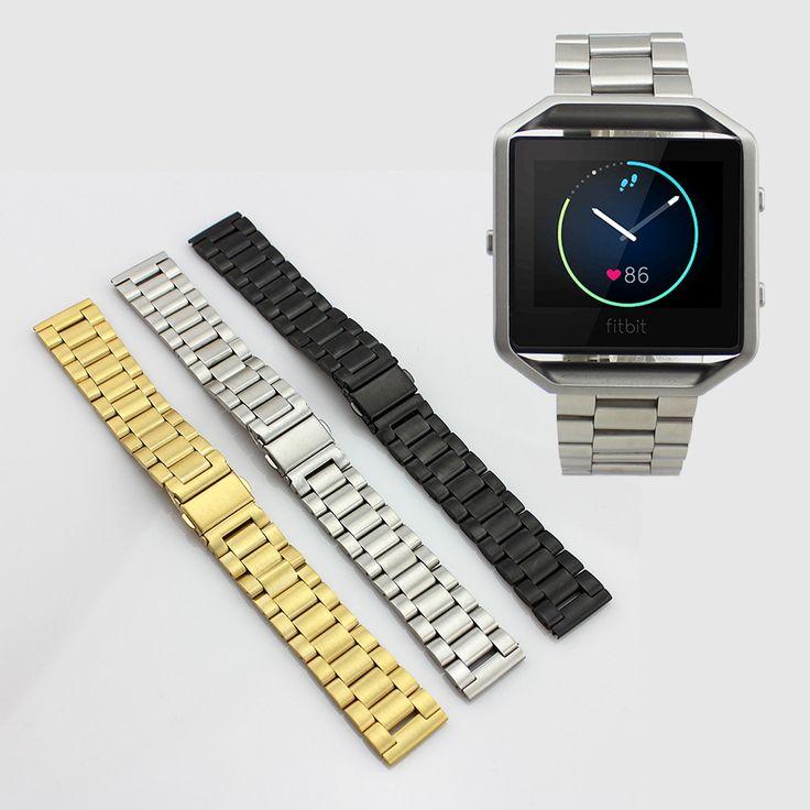 2016 Neuheiten Edelstahl Link Armband Uhr Bands Strap mit Werkzeug für Fitbit Blaze Aktivität Tracker SmartWatch //Price: $US $19.77 & FREE Shipping //     #clknetwork