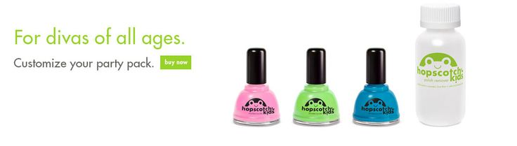 Hopscotch Kids™ WaterColors - the premier non-toxic, kid-friendly alternative to solvent-based nail polish